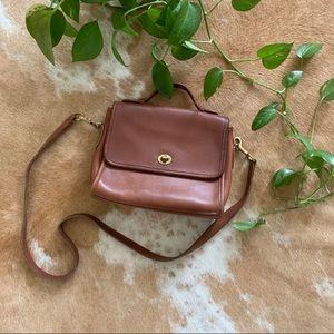 Vintage coach crossbody bag, full grain leather